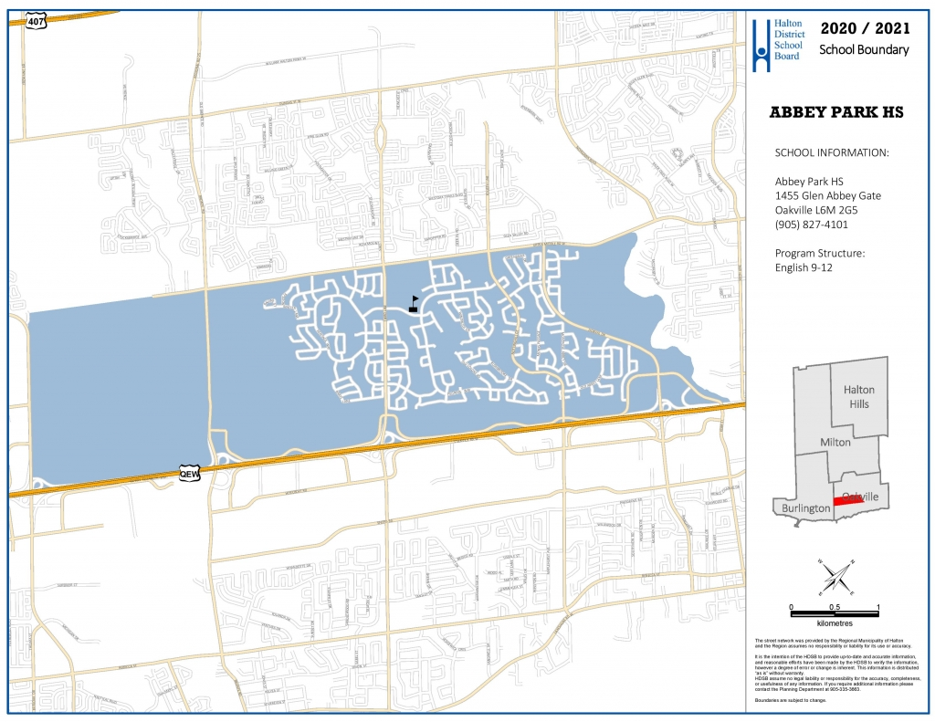 abbey park high school boundary map