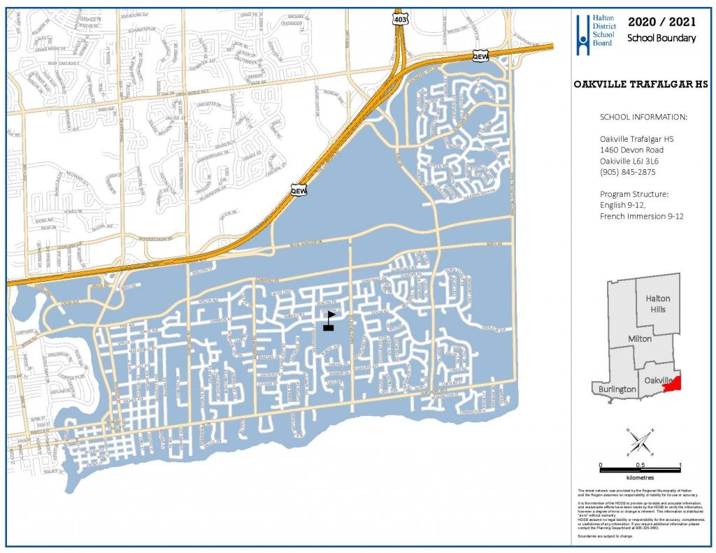 oakville trafalgar high school boundary map
